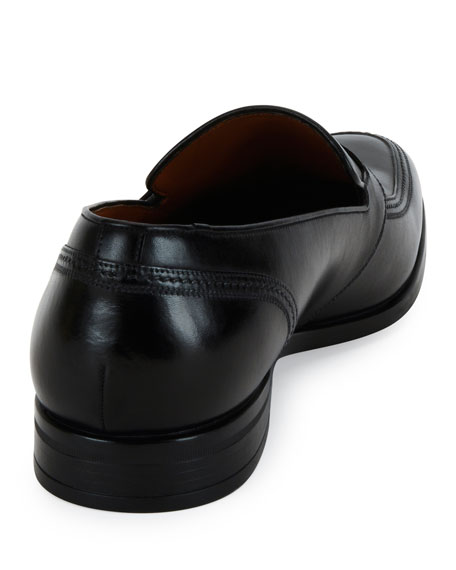 Lavoli Leather Loafer, Black