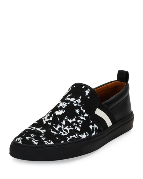 Bally Herald Notebook Textile & Leather Slip-On Sneaker,