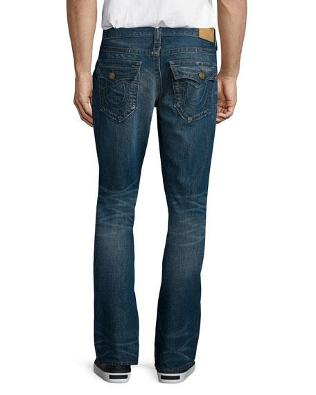 Ricky Distressed Denim Jeans, Medium Blue