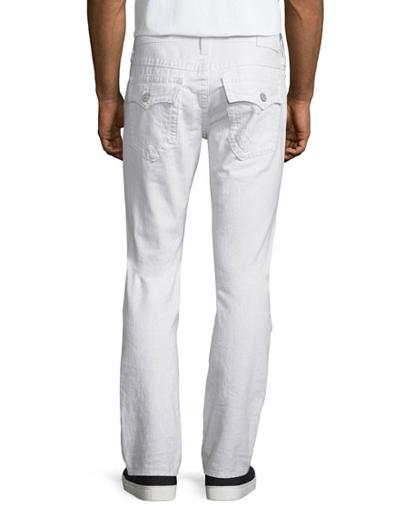 Geno Ripped & Worn Denim Jeans, White Rapids