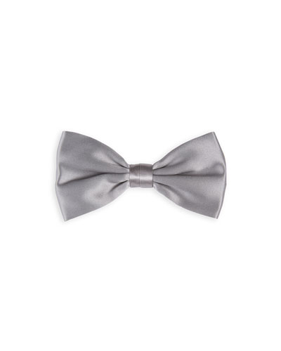 Solid Satin Bow Tie
