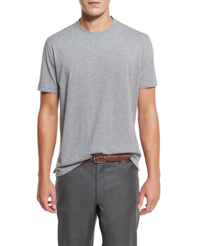 Cotton Crewneck T-Shirt, Gray