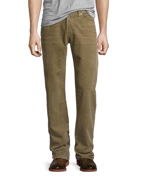 AG Graduate Sulfur Infantry Corduroy Pants, Khaki