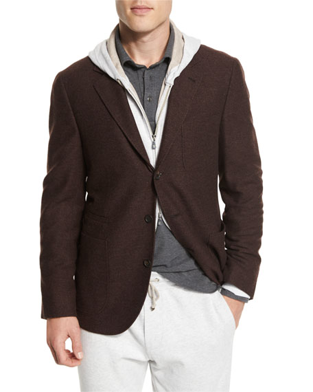 Brunello Cucinelli Deconstructed Three-Button Sport Coat