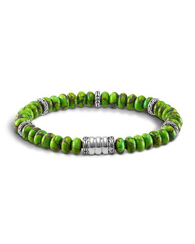 John Hardy Mohave Bedeg Men S Beaded Bracelet Green