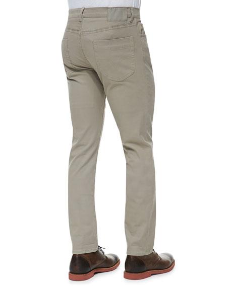 5-Pocket Stretch-Cotton Pants, Khaki