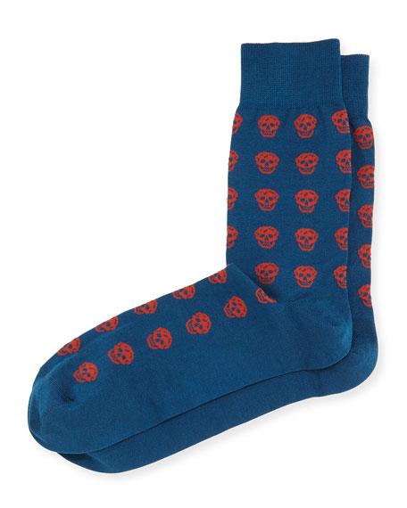 Skull Knit Short Socks