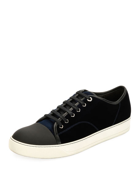 Lanvin Velvet Cap-toe Low-Top Shoe
