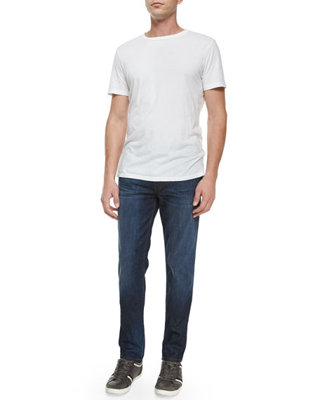 Tyler Revelled Slim-Fit Denim Jeans, Indigo
