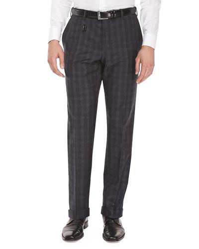 Benson Check Flannel Trousers