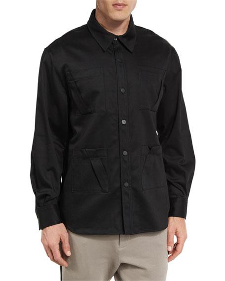Public School Long-Sleeve Fold-Detail Utility Shirt