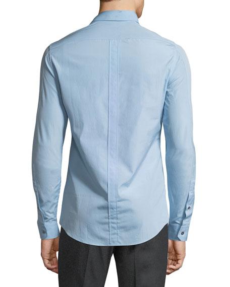 Basic Slim-Fit Woven Dress Shirt