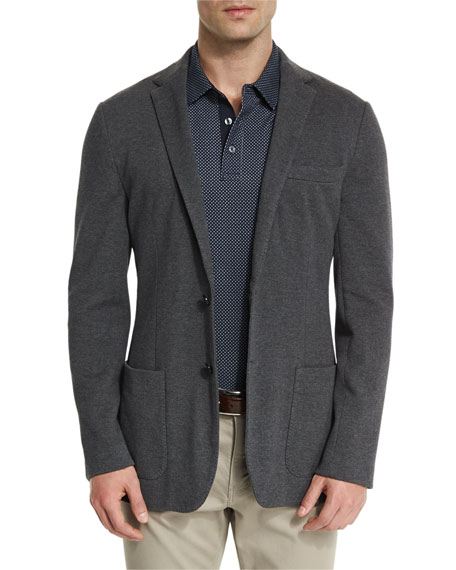 Michael Kors Double-Knit Two-Button Blazer