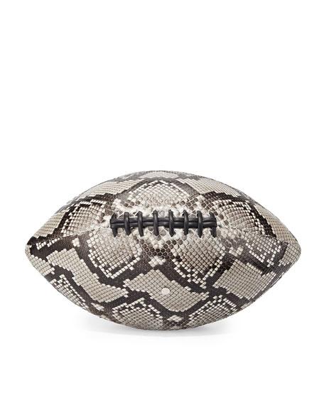 Elisabeth Weinstock Regulation-Size Python Football, Natural Glazed