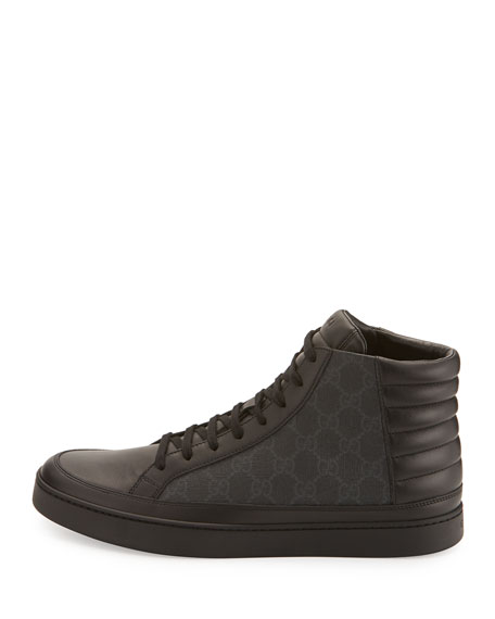 Men's Common Canvas & Leather High-Top Sneakers