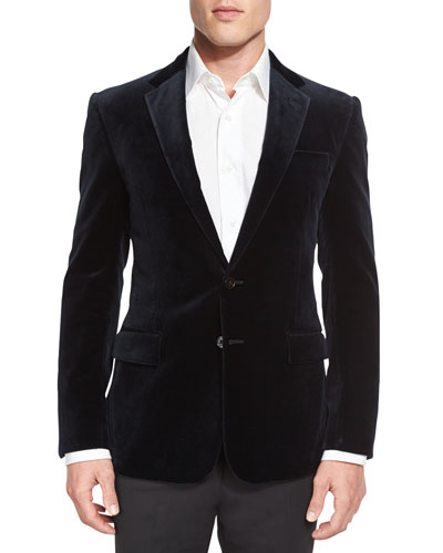 Anthony Velvet Sport Coat, Navy