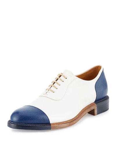 The Smythe Leather Cap-Toe Oxford Shoe