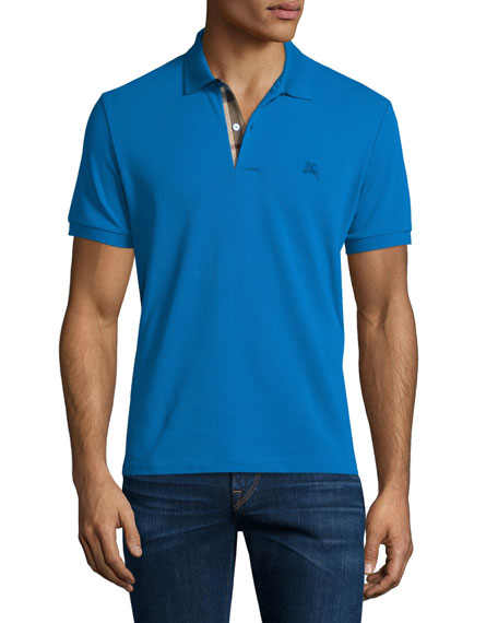 Burberry Core Short-Sleeve Pique Polo Shirt, Bright Opal