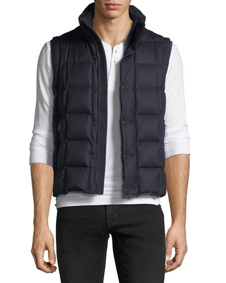 Moncler Tenay Box-Quilt Wool Vest
