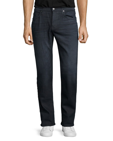 Brixton Oil Slick Straight-Leg Denim Jeans, Dark Gray