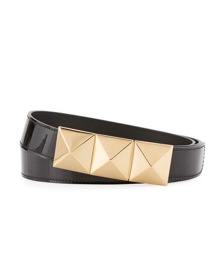 Giuseppe Zanotti Men's London Patent Leather Belt, Black