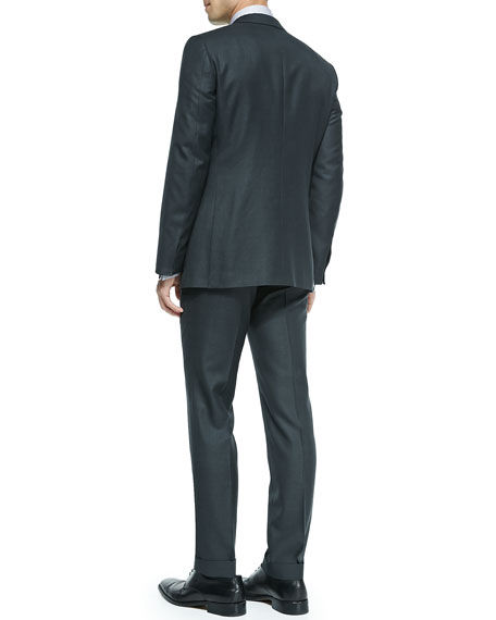 Check Wool Suit, Gray