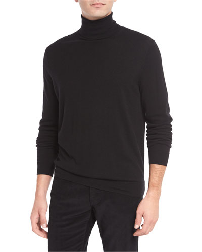 Featherweight Turtleneck Sweater, Black
