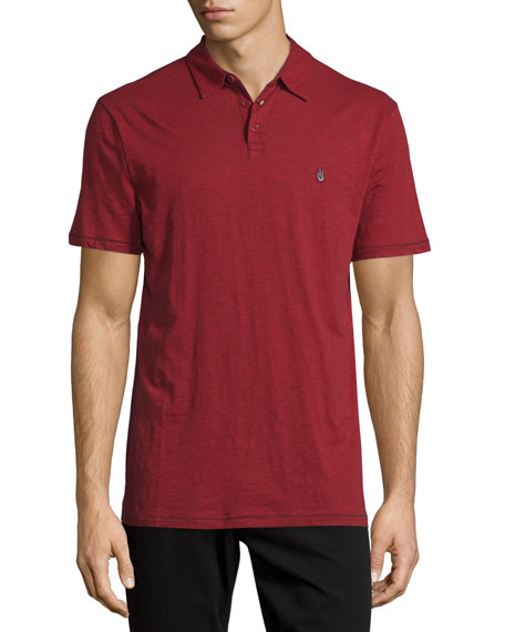 John Varvatos Star USA Short Sleeve Peace-Sign Polo