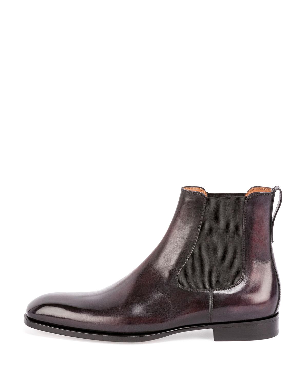 BerlutiBurgundy Chukka Boots