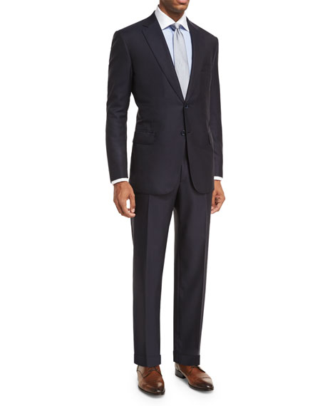 Brioni Essential Virgin Wool Two-Piece Suit, Navy