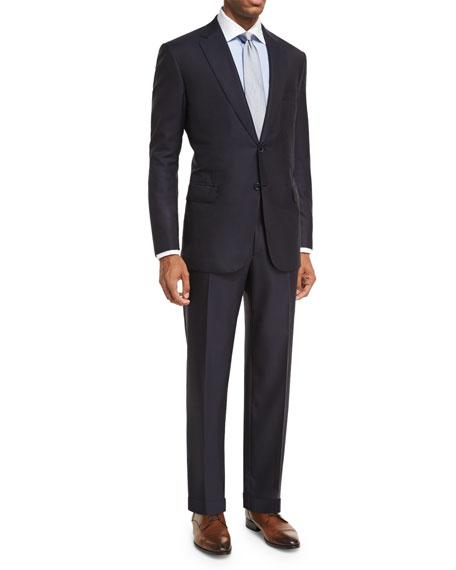Essential Virgin Wool Two-Piece Suit, Navy