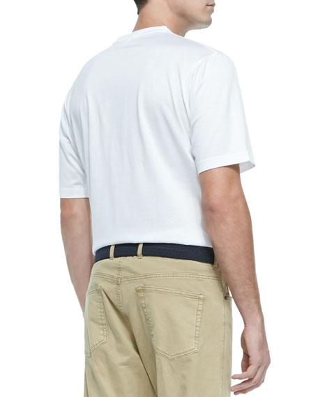 Mercerized Knit T-Shirt, White