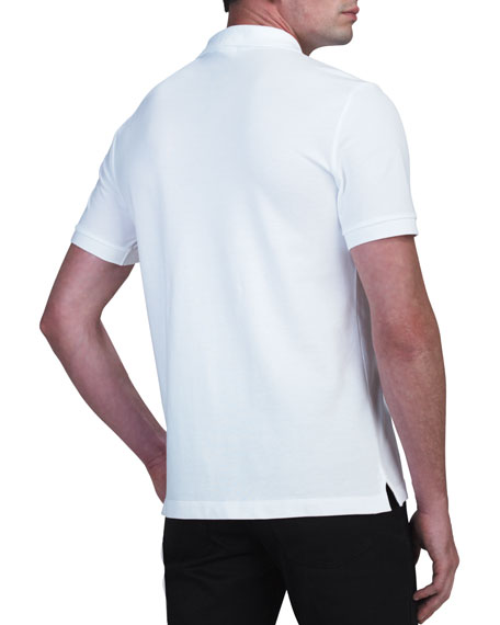 WHITE MODERN FIT S/S POLO