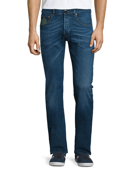 Etro Five-Pocket Slim-Fit Denim Jeans, Medium Blue