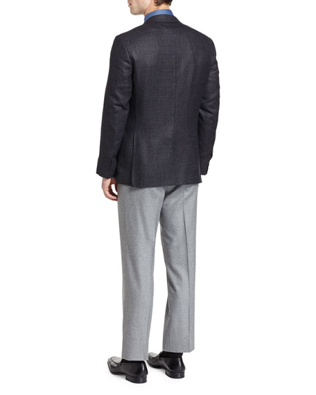 Tic Two-Button Sport Coat, Black/Gray