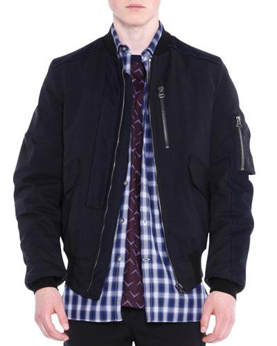 Zip-Up Blouson Jacket  Black