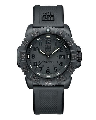 44mm Navy SEAL 3050 Series Colormark Watch, Black