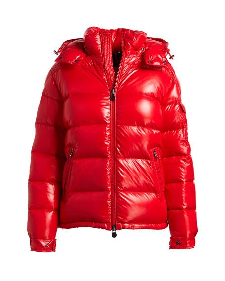 moncler maya jacket red