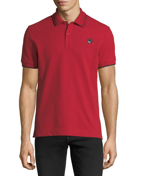 Logo Polo Shirt w/Contrast Tipping