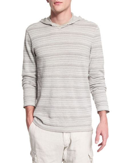 John Varvatos Star USA Textured Stripe Long-Sleeve Hooded