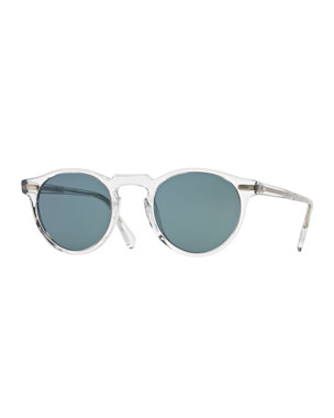 96ffb3f26b Oliver Peoples Men s Gregory Peck 47 Round Sunglasses