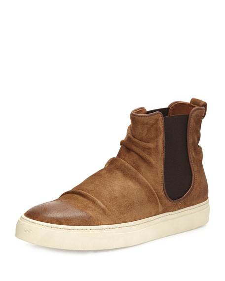 John Varvatos Reed Sharpei Leather Chelsea High-Top Sneaker,