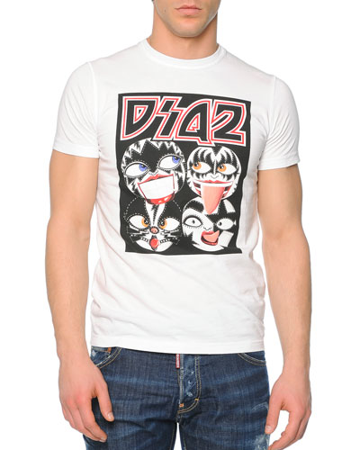 D2 Russian Dolls Graphic Tee, White