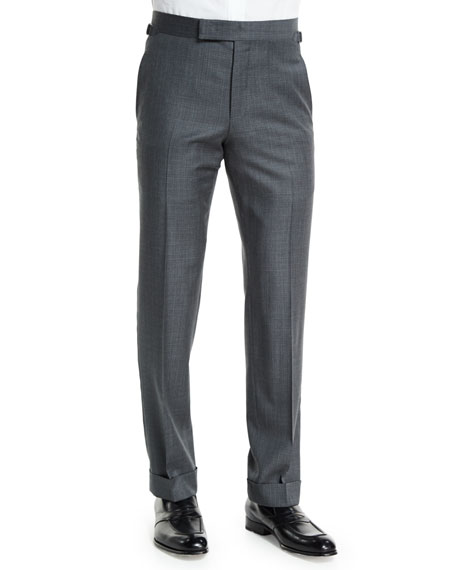 TOM FORD O'Connor Base Mixed Sharkskin Trousers, Light