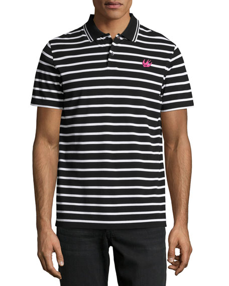 McQ Alexander McQueen Clean Polo 01, Striped Black