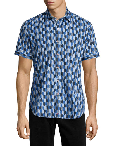 Printed Short-Sleeve Shirt, Multicolor