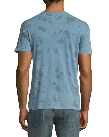 Washed Tie-Dye Short-Sleeve T-Shirt, Ocean Blue