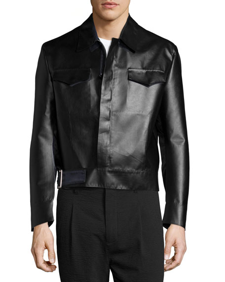 Costume National Long-Sleeve Sports Jacket, Black