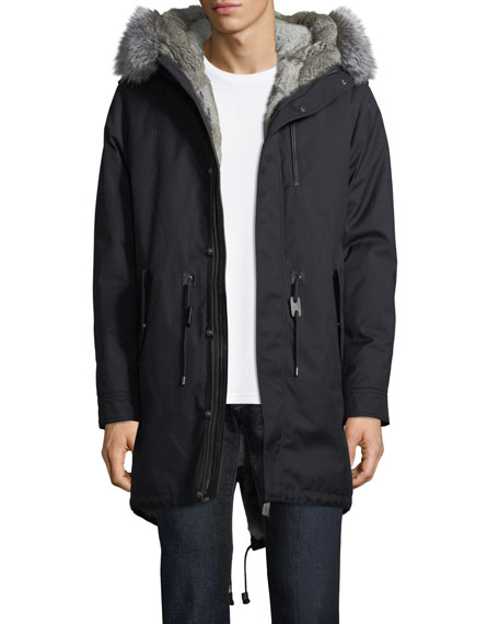 Mackage Mortiz-X Parka w/Fox & Rabbit Fur Trim
