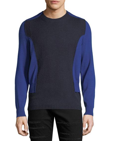Alexander McQueen NVY SWTR W/BRIGHT BLUE SL